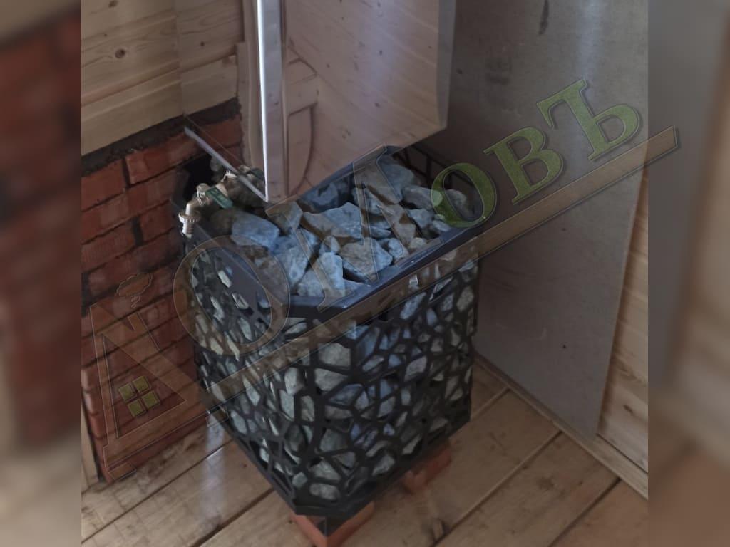 Печь в каркасной бане 2х4