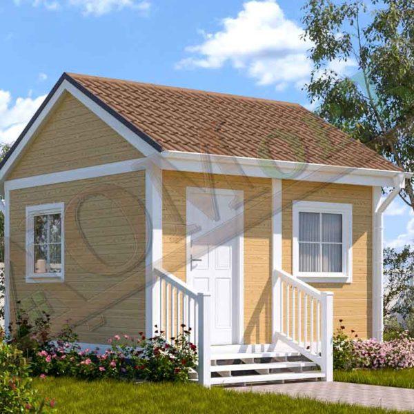 Каркасный дом 2,5х4 с верандой 1,5х4