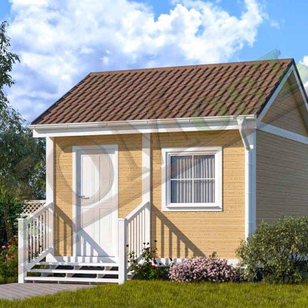 Каркасный дом 2,5х4 с верандой 1,5х4 - ракурс 2
