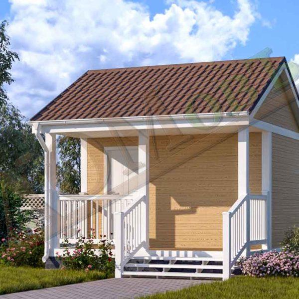 Каркасный дом 2,5х4 с террасой 1,5х4 - ракурс 2