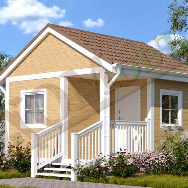 Каркасный дом 2,5х4 с верандой 1,5х2 и террасой 1,5х2