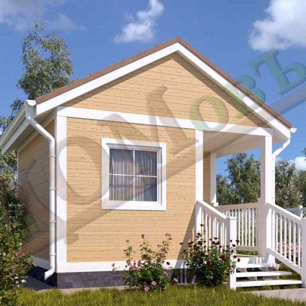 Каркасный дом 2,5х4 с верандой 1,5х2 и террасой 1,5х2 - ракурс 2