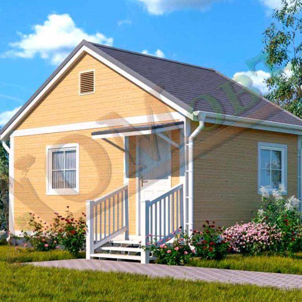 Каркасный дом 4х4 с верандой 1,5х4