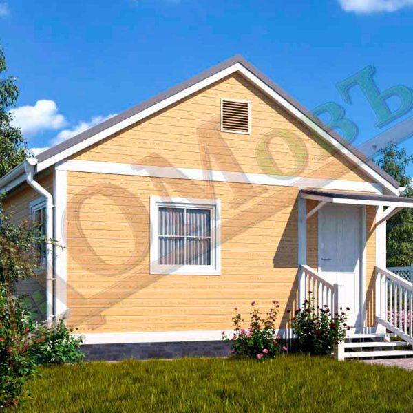 Каркасный дом 4х4 с верандой 1,5х4 - ракурс 2