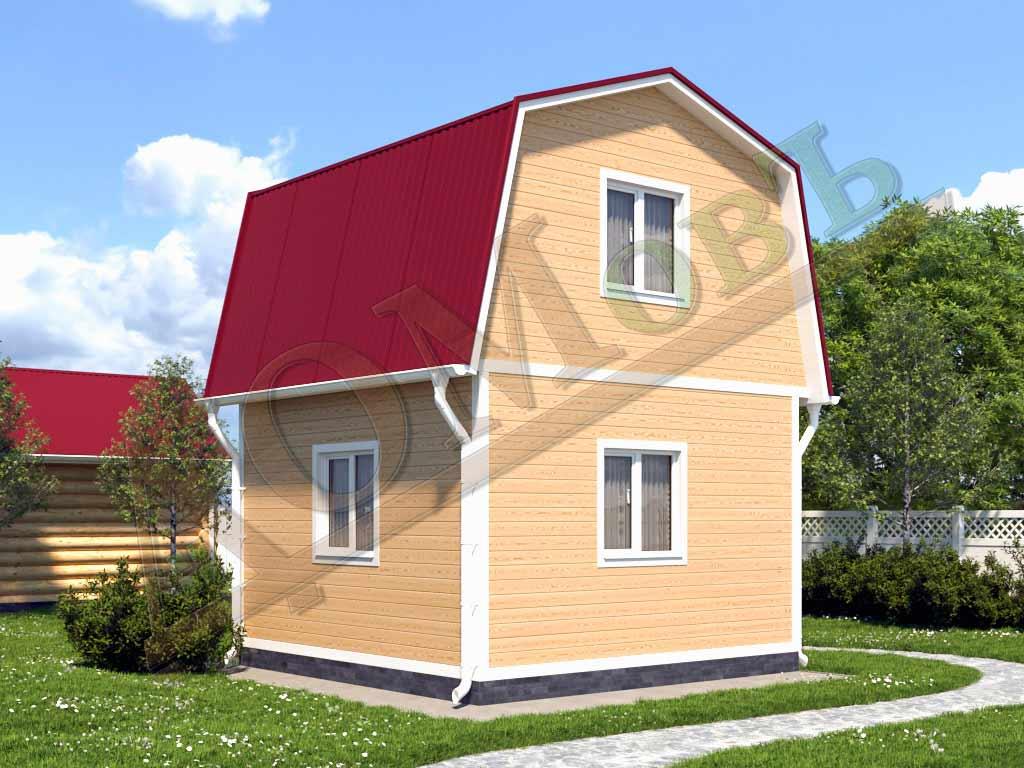 Каркасный дом 4x4 - ракурс 2