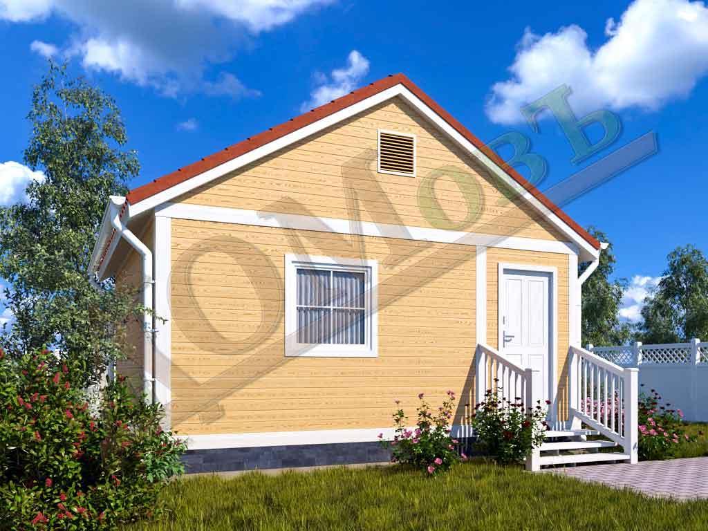 Каркасный дом 4х5 с верандой 1,5х5 - ракурс 2