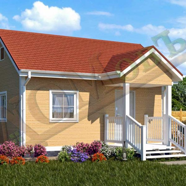 Каркасный дом 4х6 с террасой 1,5х2 - ракурс 2