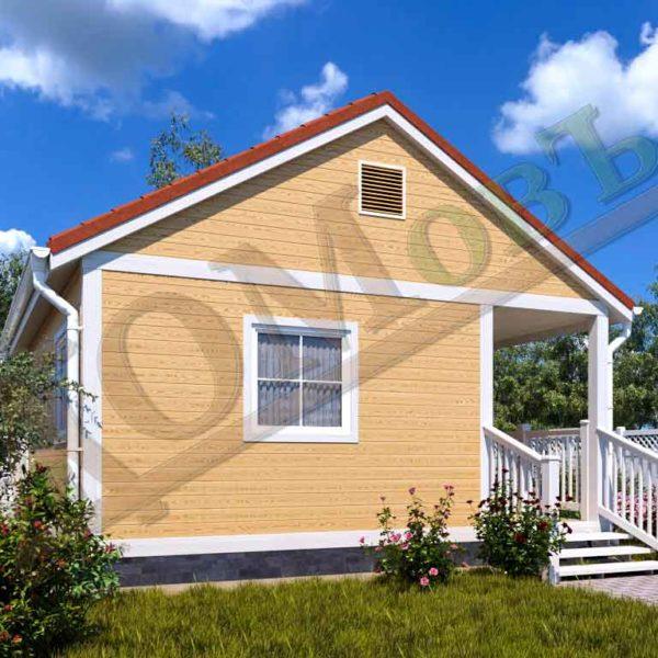 Каркасный дом 4х6 с террасой и верандой 1,5х3 - ракурс 2