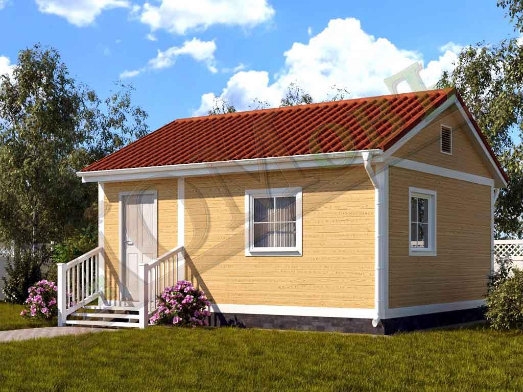 Каркасный дом 5х6 - ракурс 2