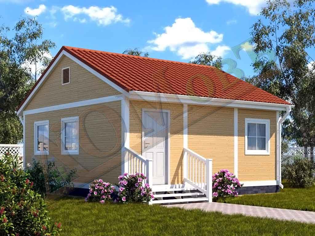 Каркасный дом 5х6 с верандой 1,5х6