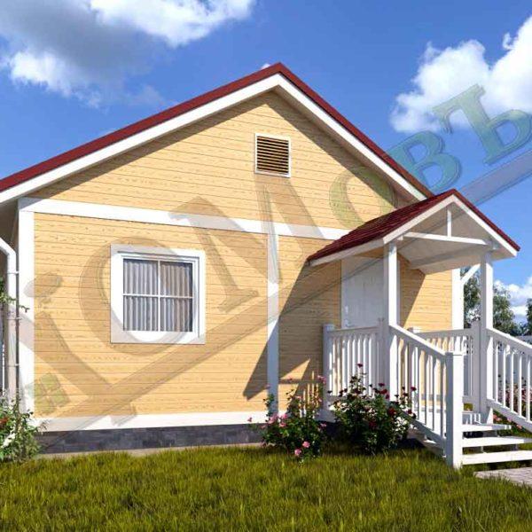 Каркасный дом 6х6 - ракурс 2