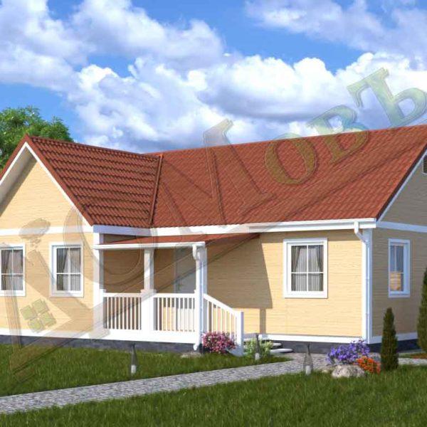 Каркасный дом 8х10 с террасой 2х3