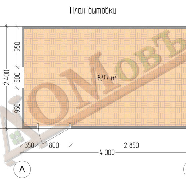 Бытовка - хозблок 2,4x4 - планировка