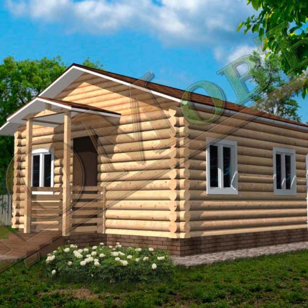 Дом из бревна 6x6