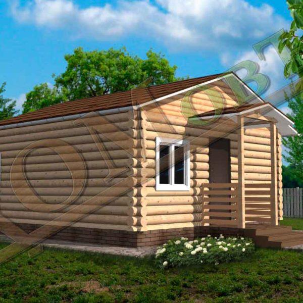 Дом из бревна 6x6 - ракурс 2