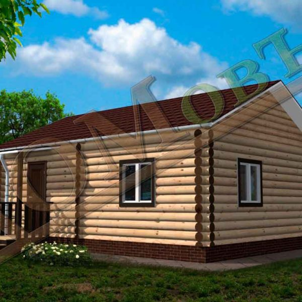 Дом из бревна 6x8 - ракурс 2