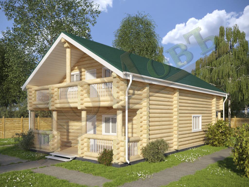 Дом из бревна 8x14