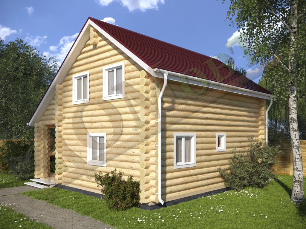 Дом из бревна 8x8