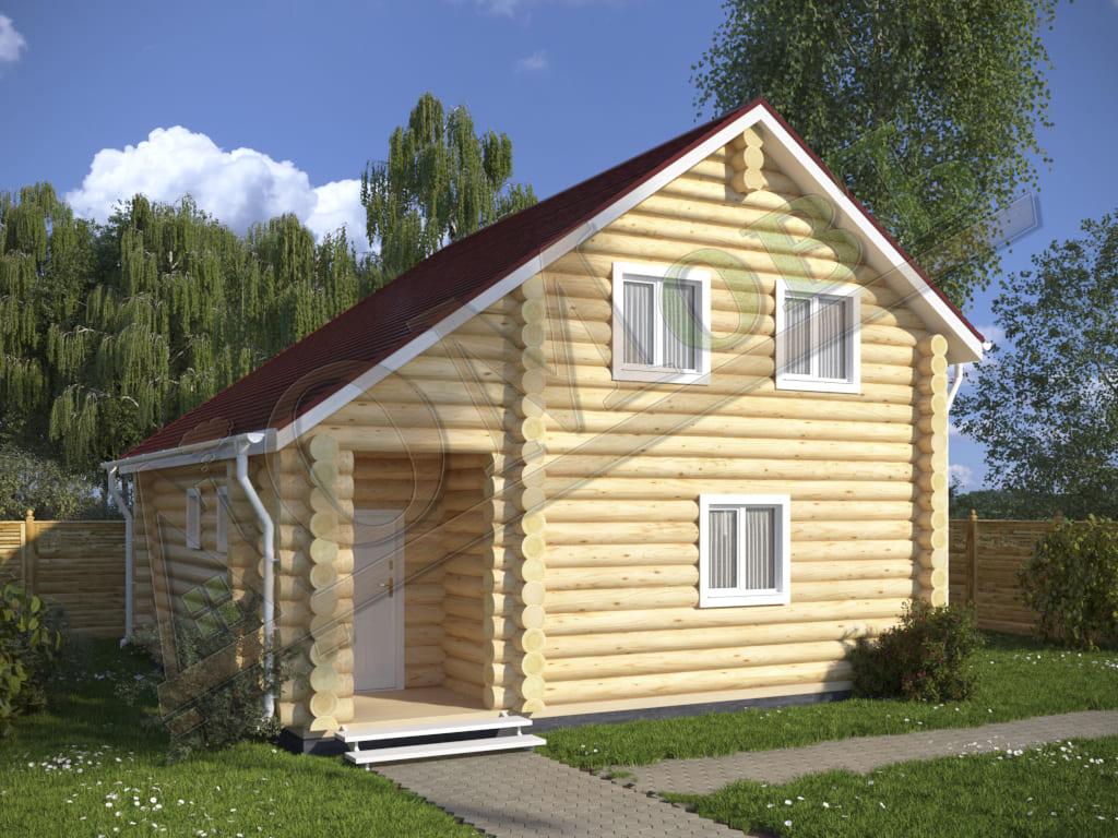Дом из бревна 8x8 - ракурс 2