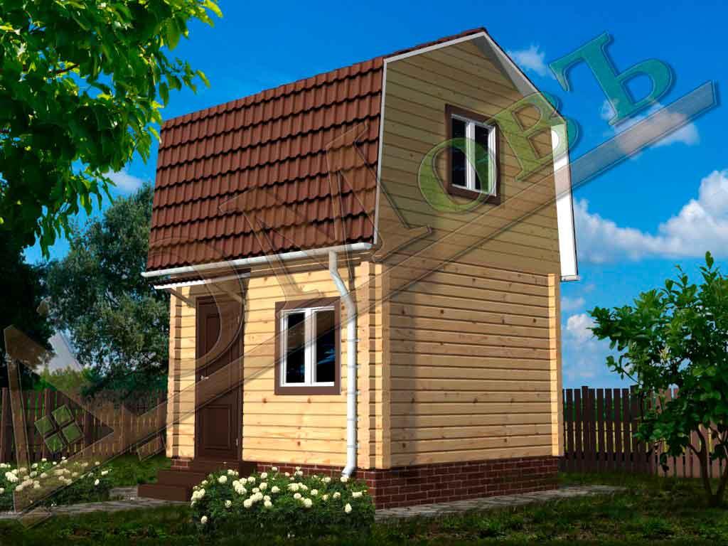 Дом из бруса 4x4 - ракурс 2
