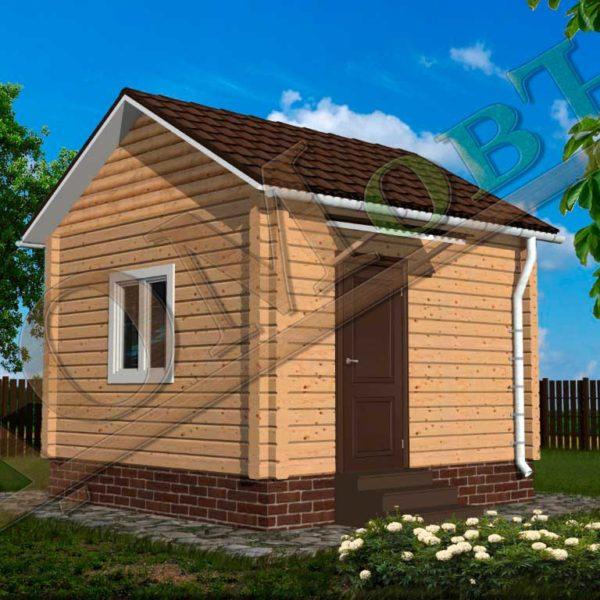 Дом из бруса 4x4