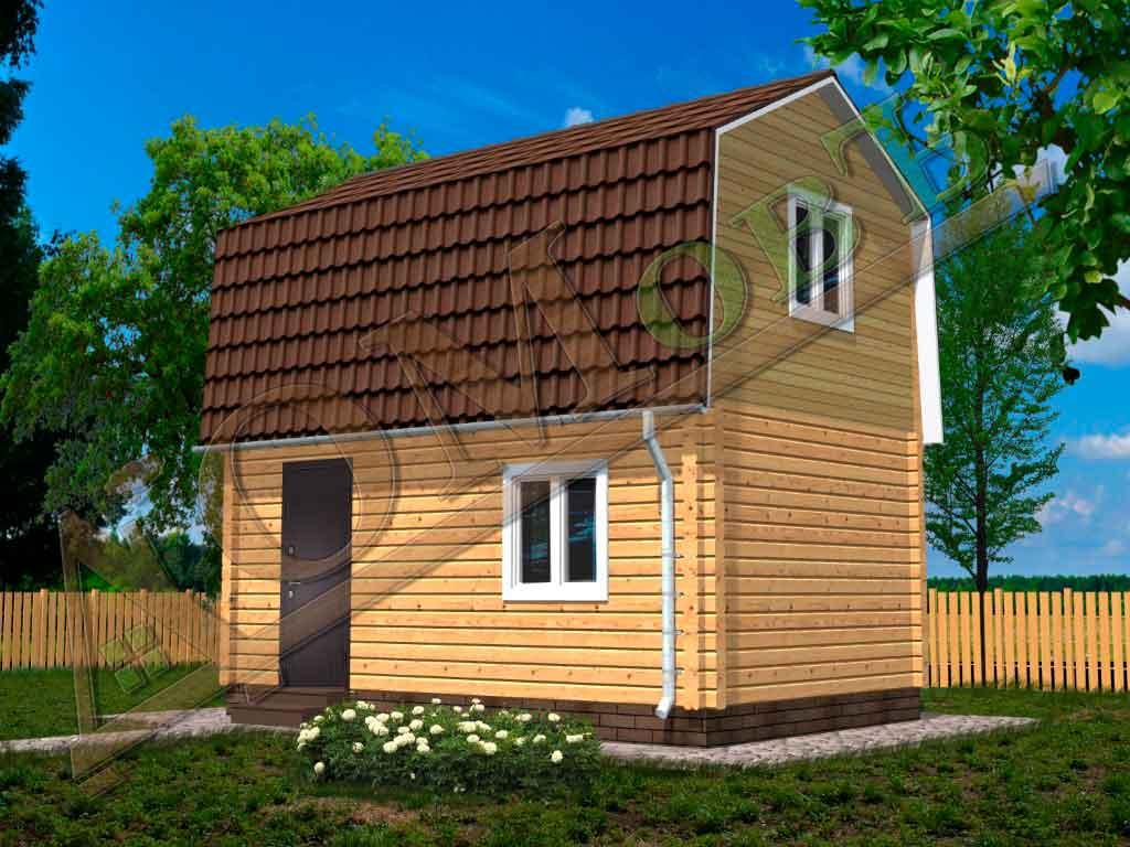 Дом из бруса 4x6 - ракурс 2