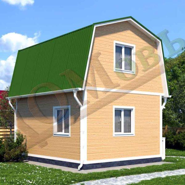 Каркасный дом 4х5 - ракурс 2