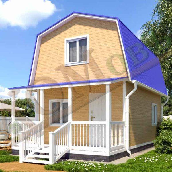 Каркасный дом 4х5 с террасой 1,5х4 - ракурс 2