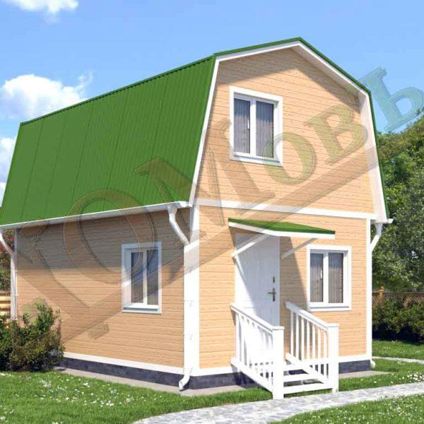 Каркасный дом 4х6 - ракурс 2