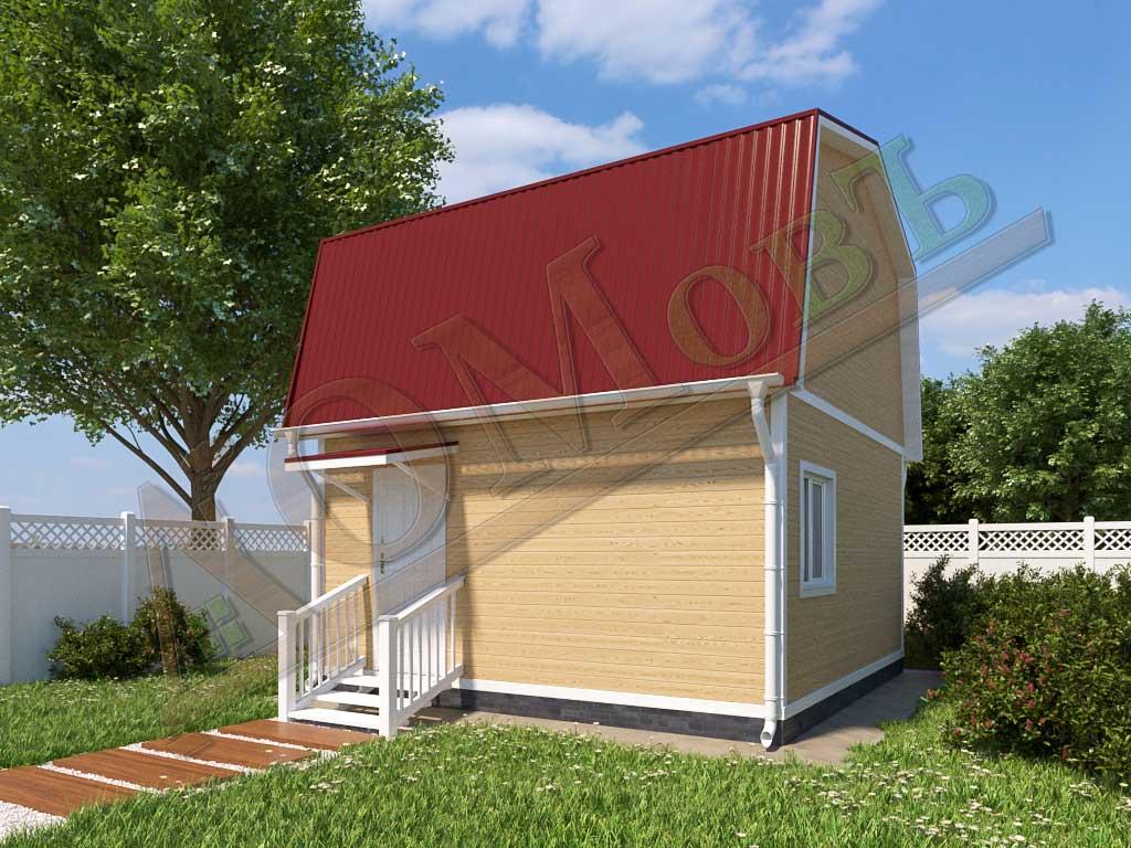 Каркасный дом 5х5 - ракурс 2