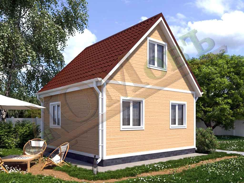Каркасный дом 5х5