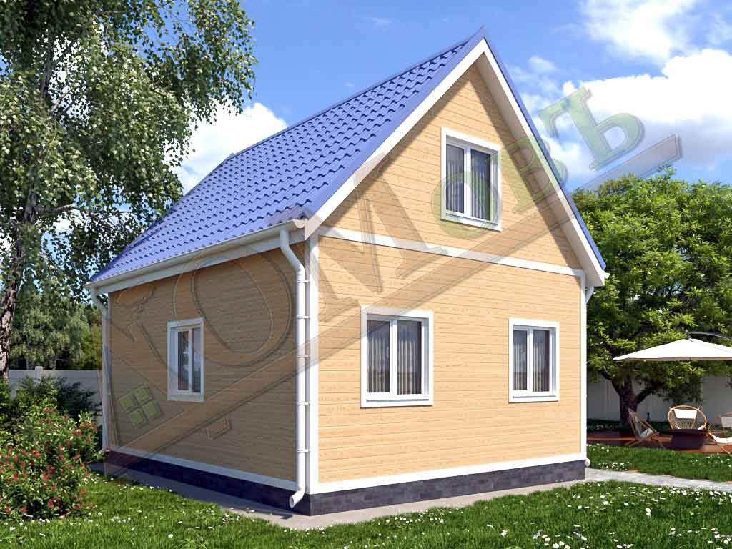 Каркасный дом 5х6 с террасой 1,5х1,5