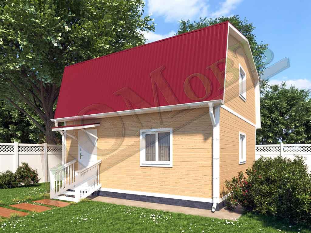 Каркасный дом 6x6 - ракурс 2