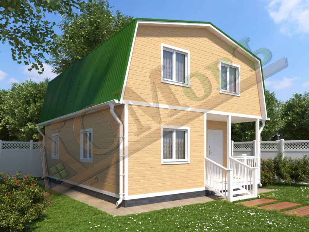 Каркасный дом 6x8 - ракурс 2