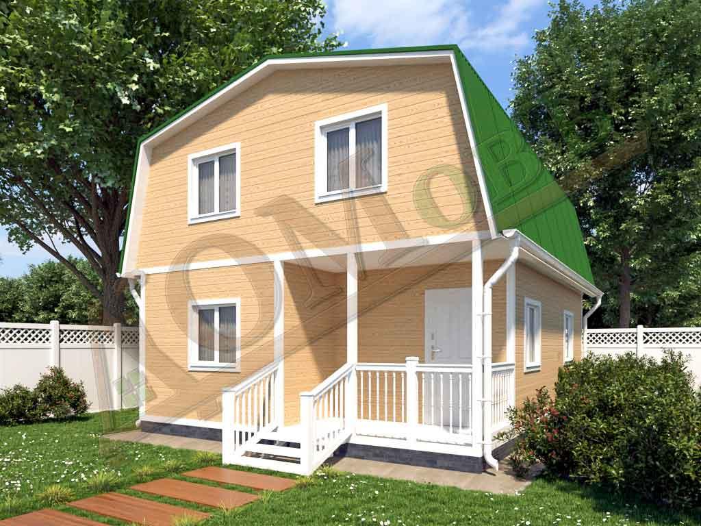 Каркасный дом 6x8