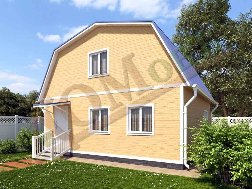 Каркасный дом 7x6 - ракурс 2