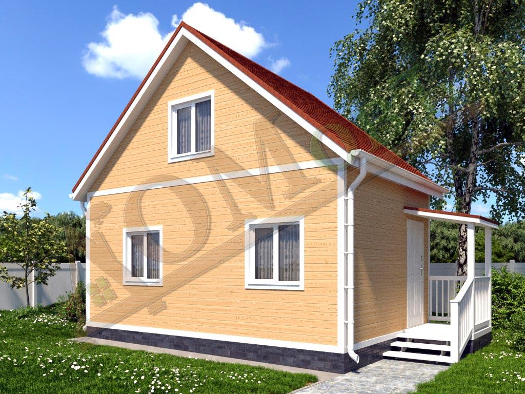 Каркасный дом 6х4 с террасой 1,5х1,5