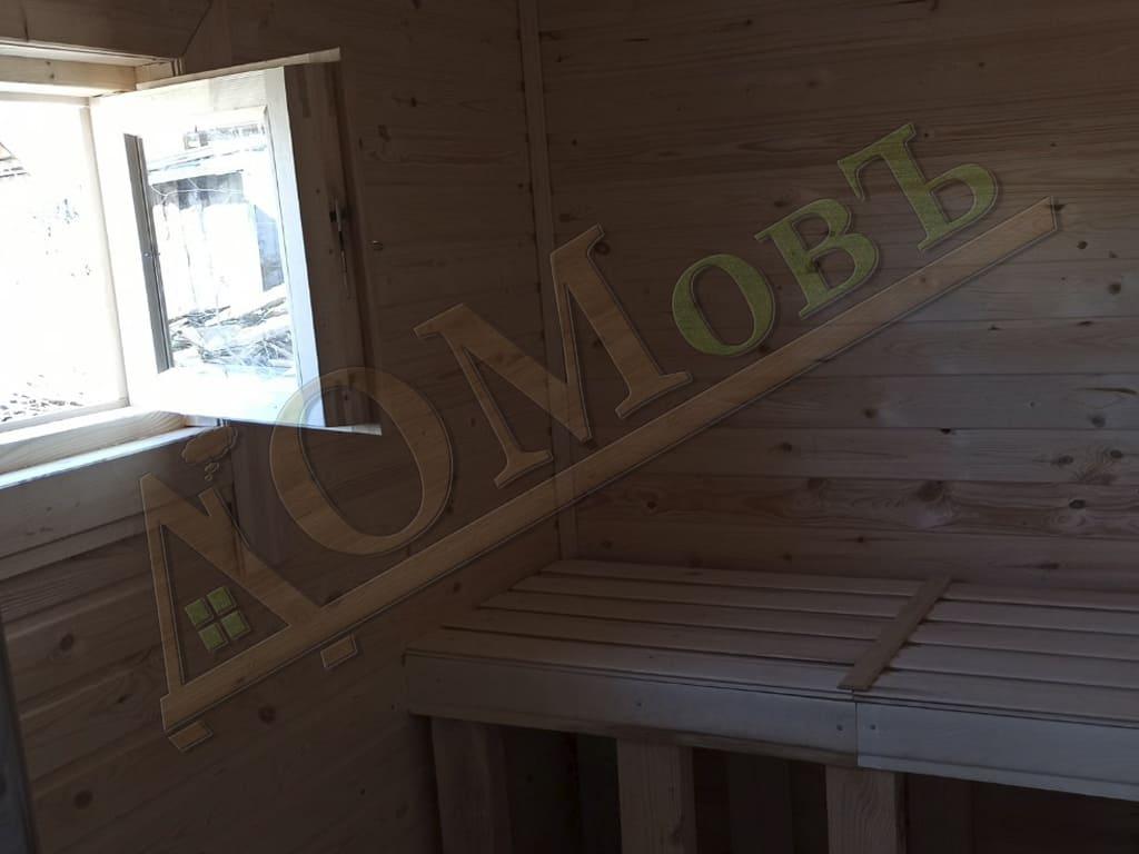 Парное помещение в каркасной бане 2х4