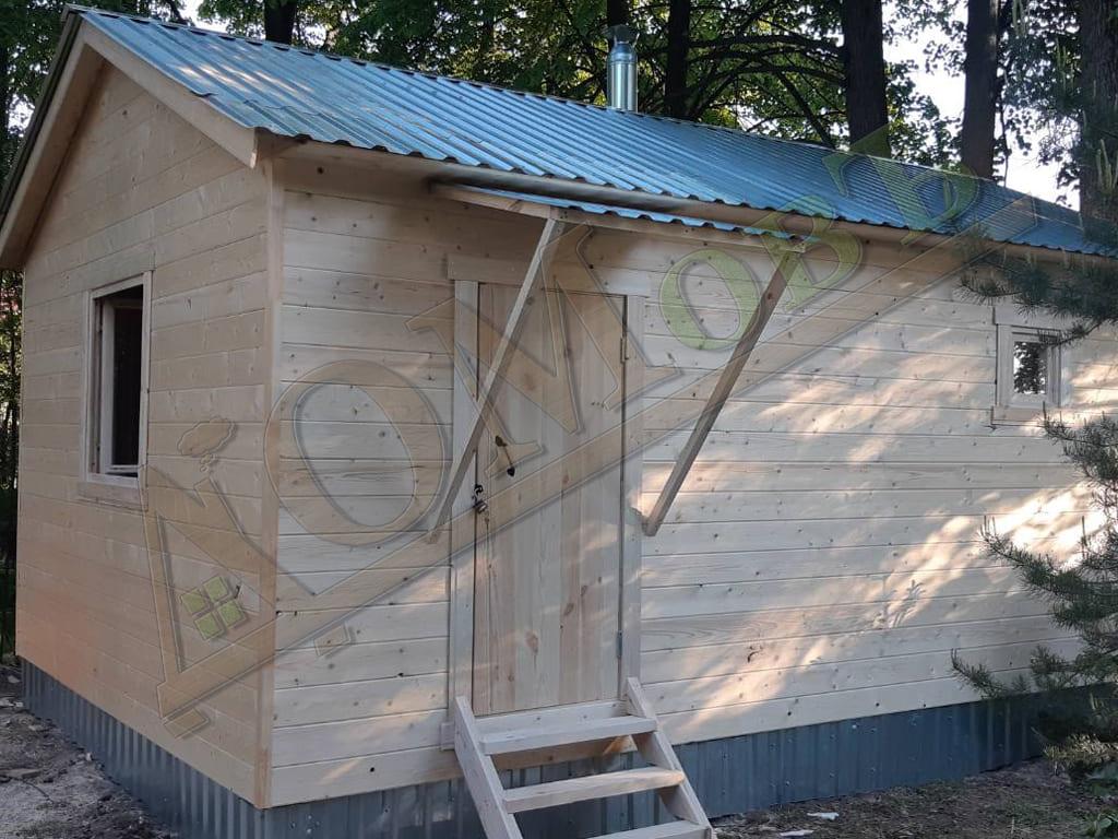 Каркасная баня 4х6 - фото 3